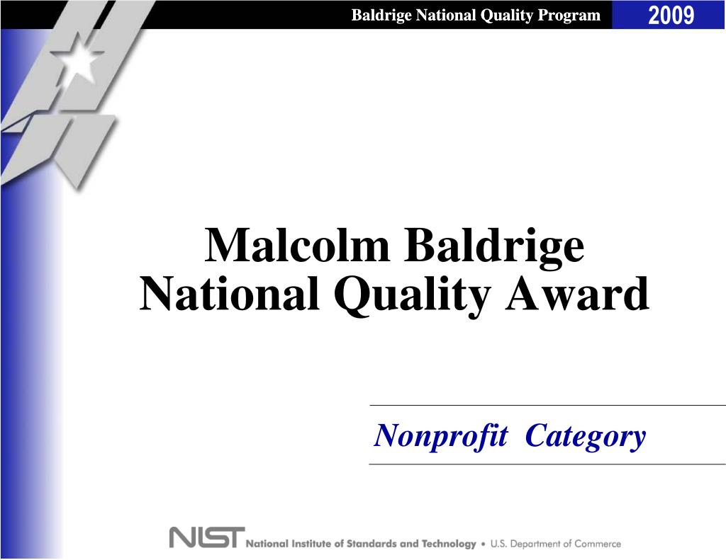 Baldrige National Quality Program