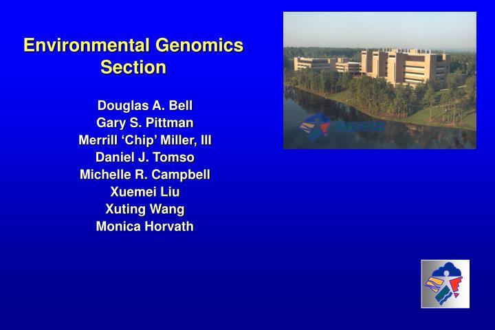 Environmental Genomics Section