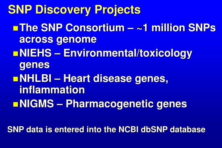 SNP Discovery Projects