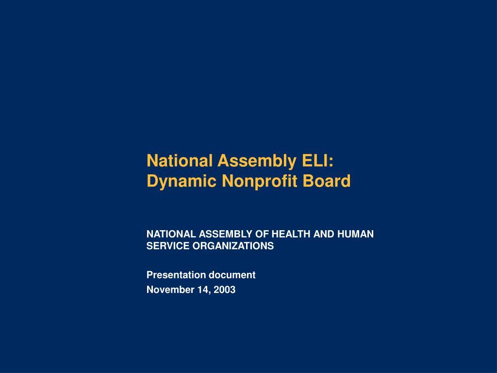 National Assembly ELI:
