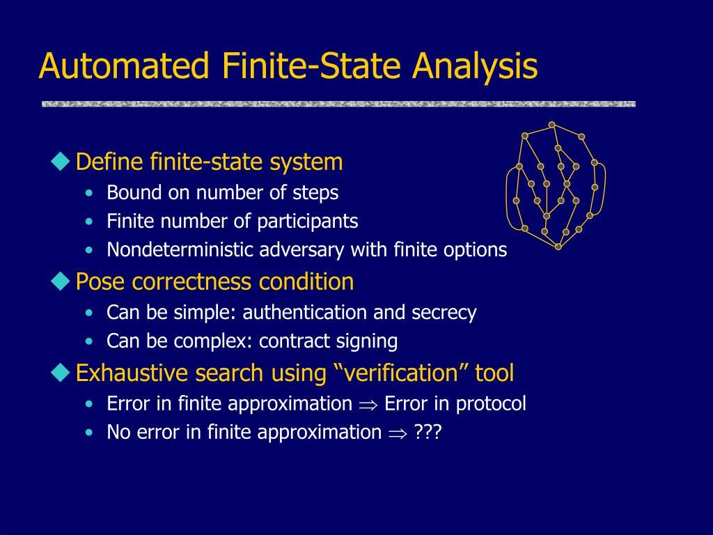 Automated Finite-State Analysis