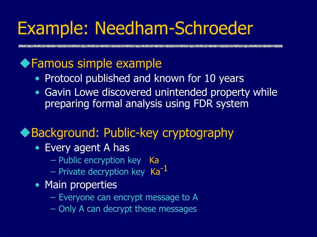 Example: Needham-Schroeder