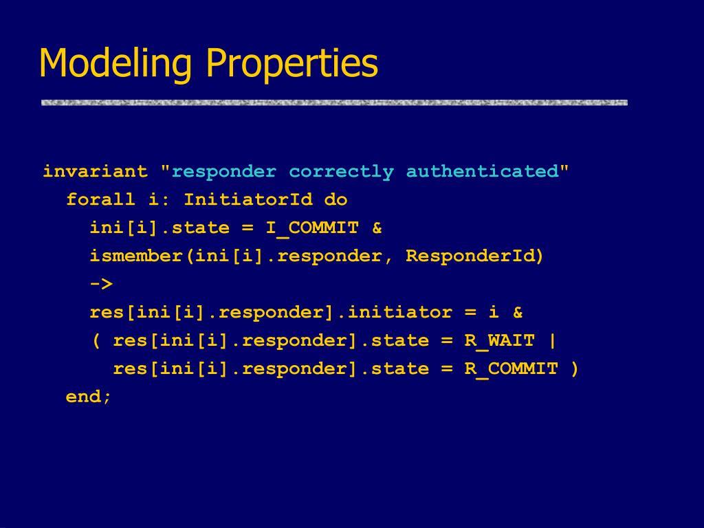 Modeling Properties