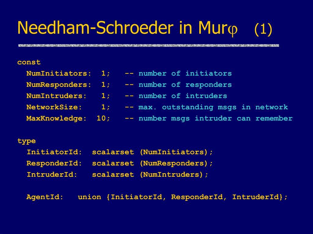 Needham-Schroeder in Mur