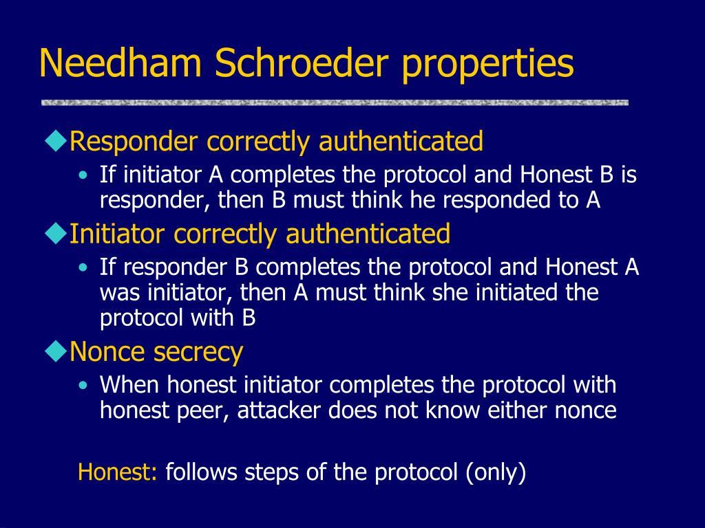 Needham Schroeder properties