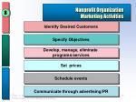 nonprofit organization marketing activities