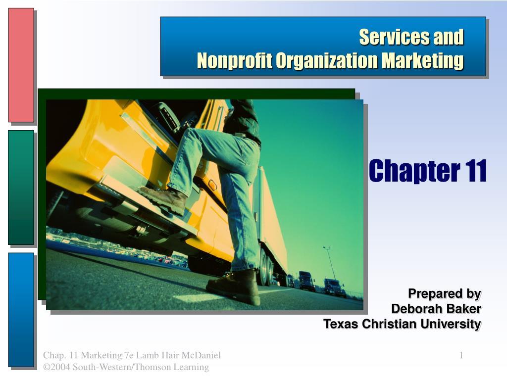 services and nonprofit organization marketing