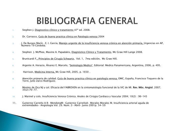 BIBLIOGRAFIA GENERAL