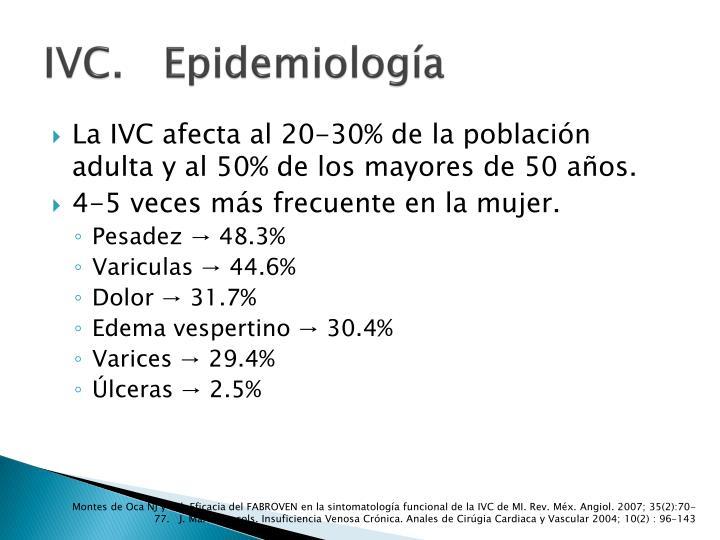 IVC.   Epidemiología
