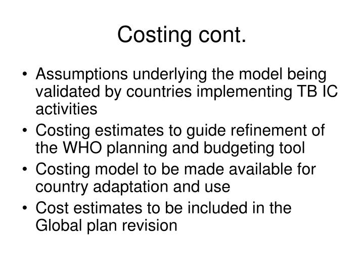 Costing cont.