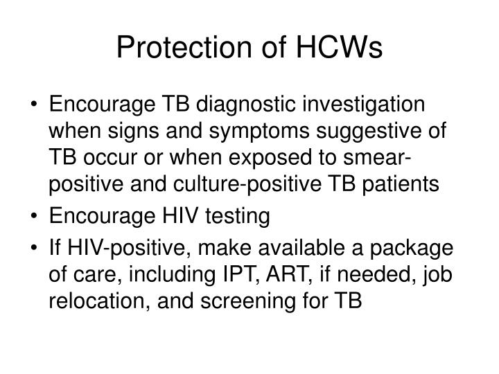 Protection of HCWs