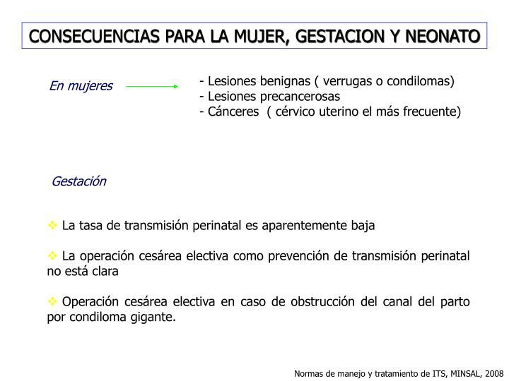CONSECUENCIAS PARA LA MUJER, GESTACION Y NEONATO