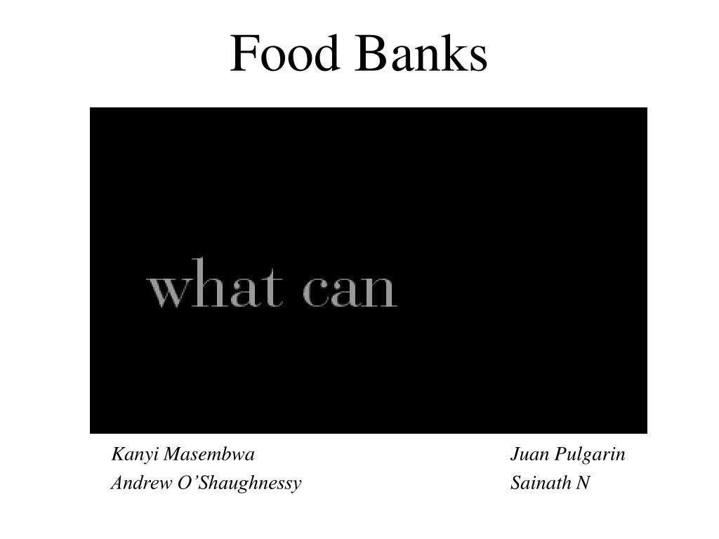 food banks