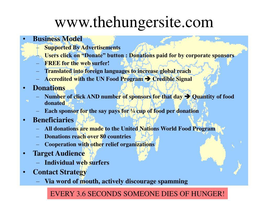 www.thehungersite.com