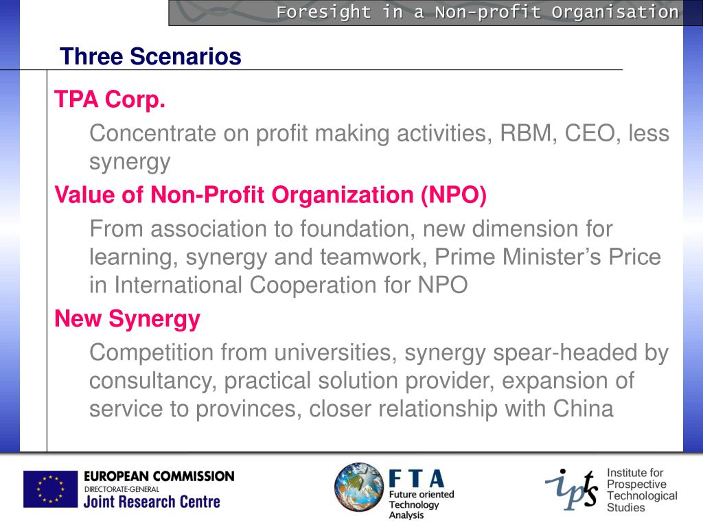 Foresight in a Non-profit Organisation