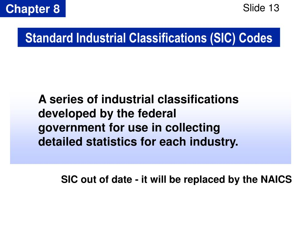 Standard Industrial Classifications (SIC) Codes