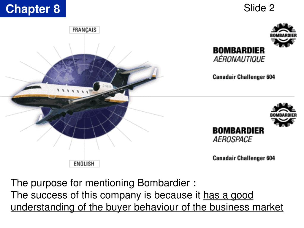 The purpose for mentioning Bombardier