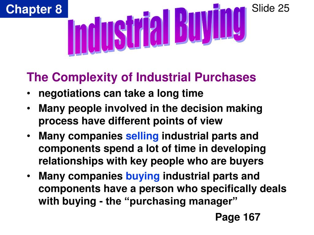 The Complexity of Industrial Purchases