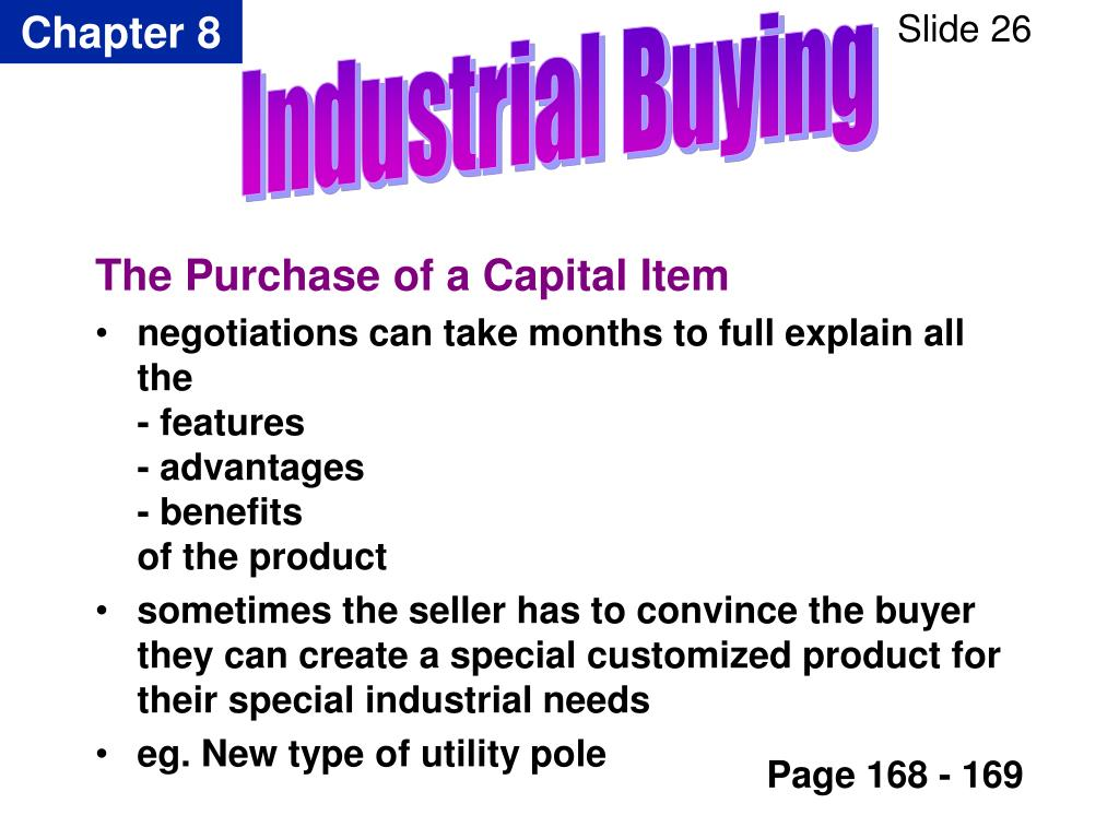 The Purchase of a Capital Item