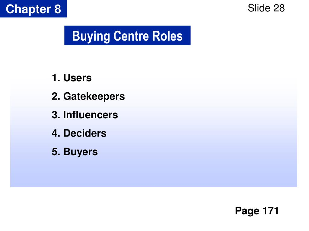 Buying Centre Roles