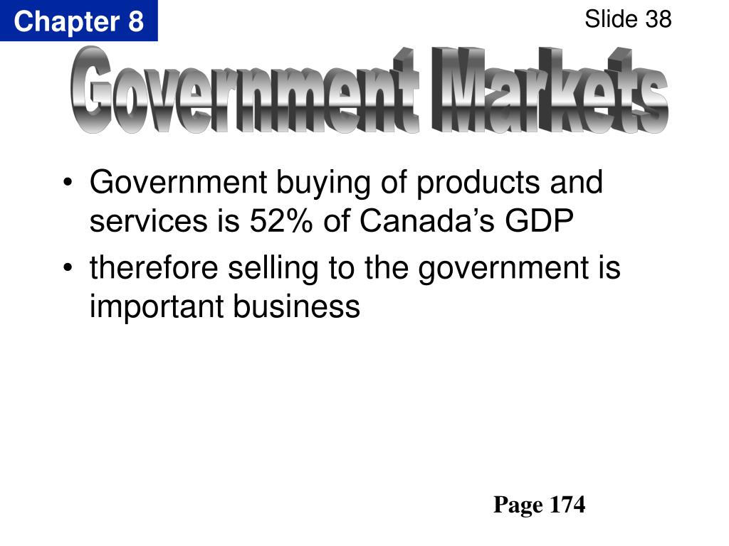 Government buying of products and services is 52% of Canada's GDP