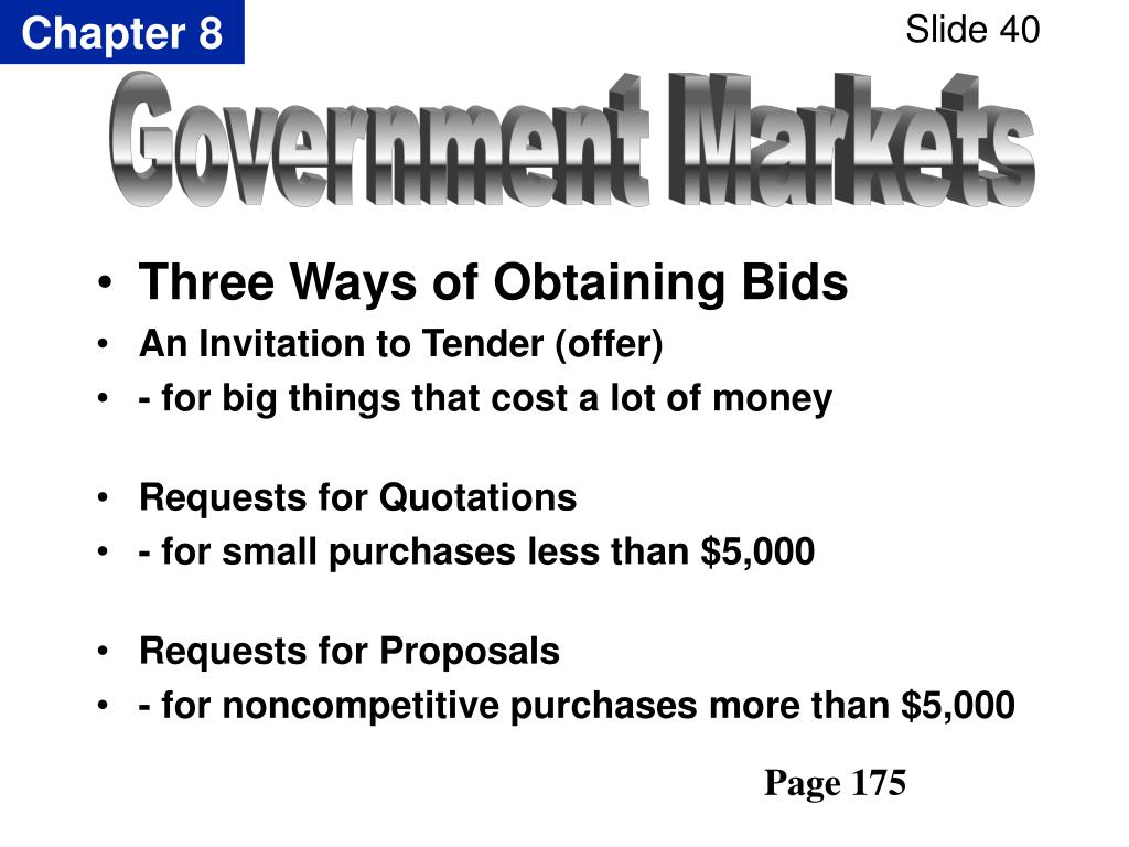 Three Ways of Obtaining Bids