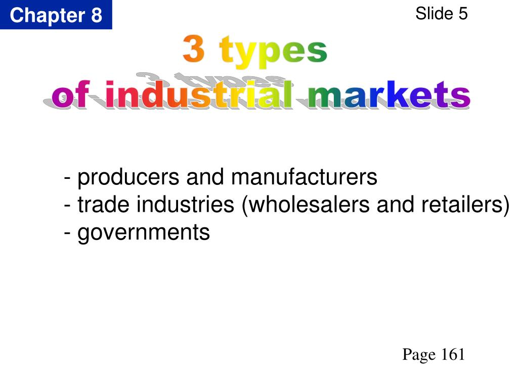- producers and manufacturers