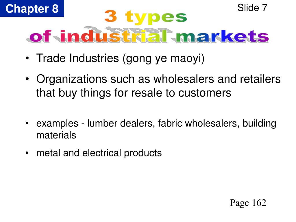 Trade Industries (gong ye maoyi)