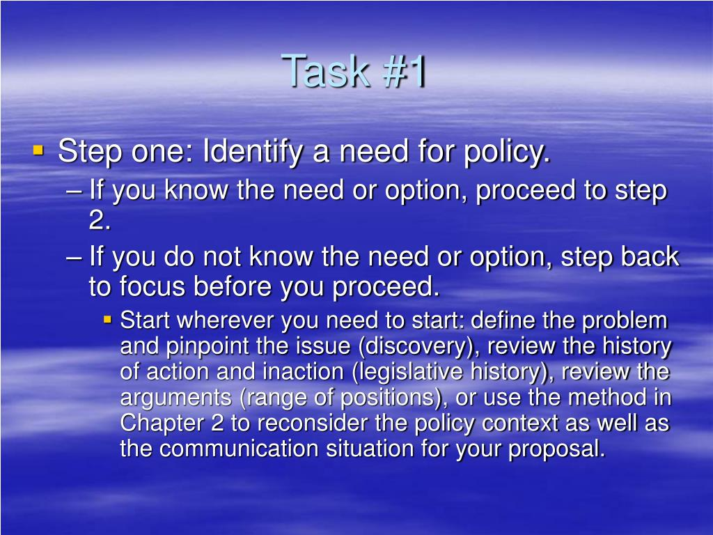 Task #1