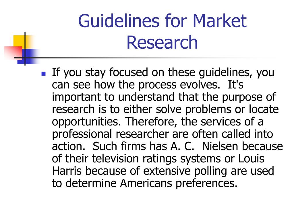 Guidelines for Market Research