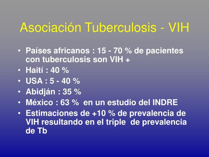 Asociación Tuberculosis - VIH