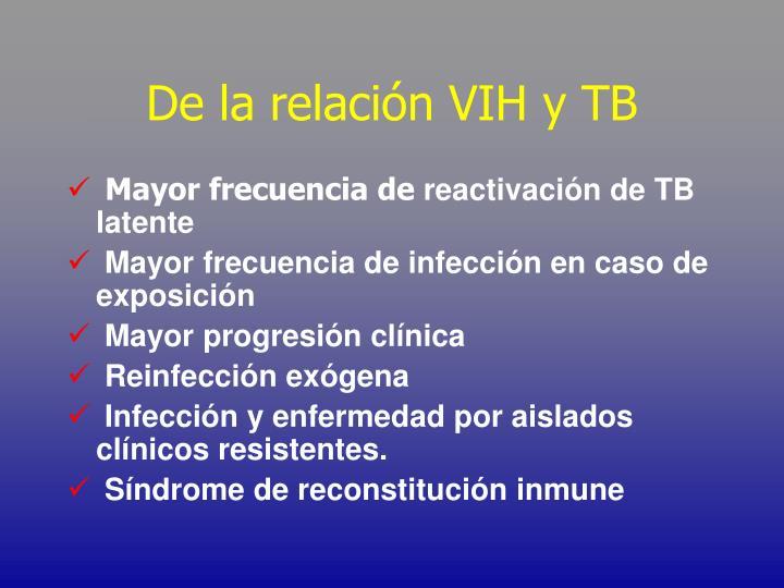 De la relación VIH y TB