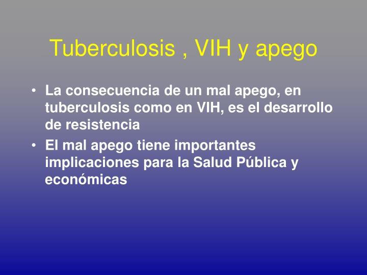 Tuberculosis , VIH y apego
