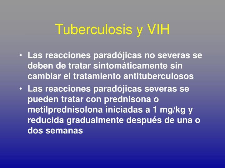 Tuberculosis y VIH