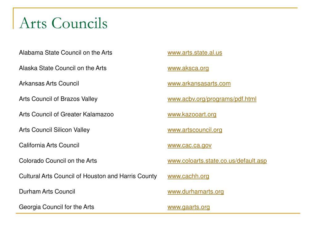 Arts Councils