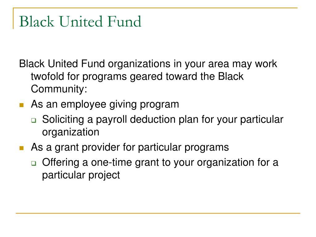 Black United Fund