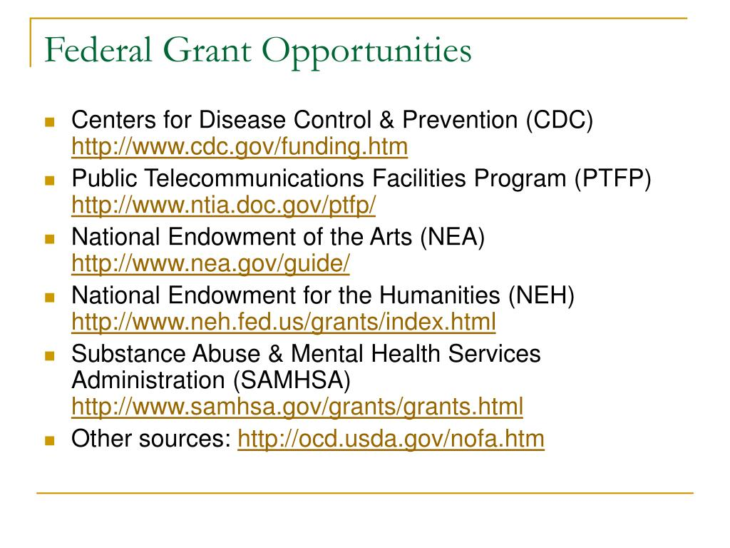 Federal Grant Opportunities