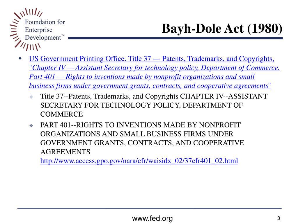 Bayh-Dole Act (1980)