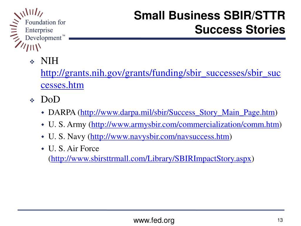 Small Business SBIR/STTR Success Stories