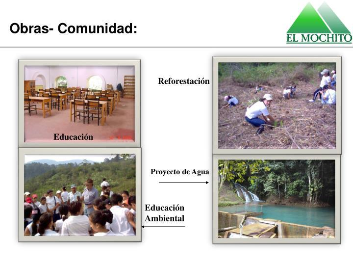 Obras- Comunidad: