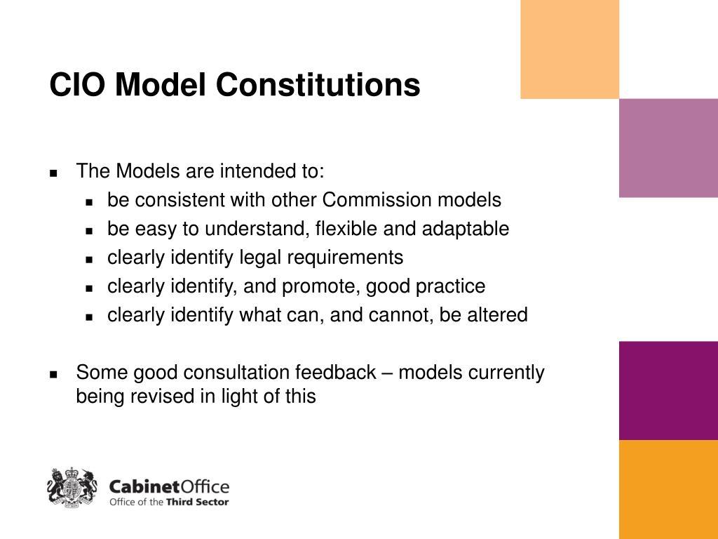 CIO Model Constitutions