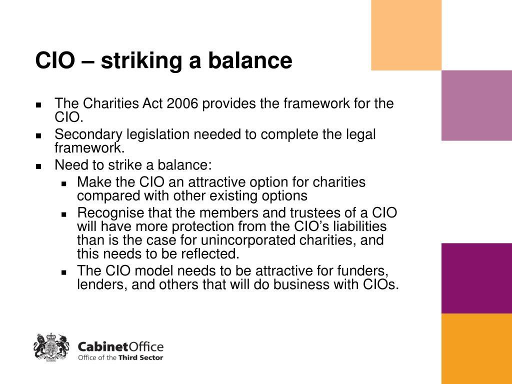 CIO – striking a balance