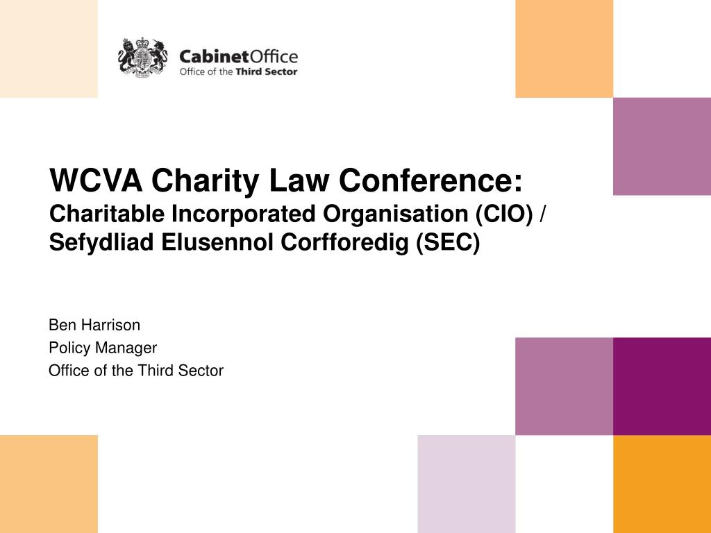 WCVA Charity Law Conference: