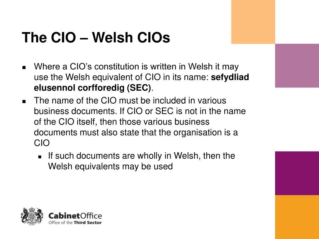 The CIO – Welsh CIOs
