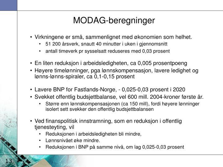 MODAG-beregninger