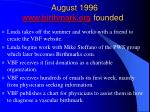 august 1996 www birthmark org founded