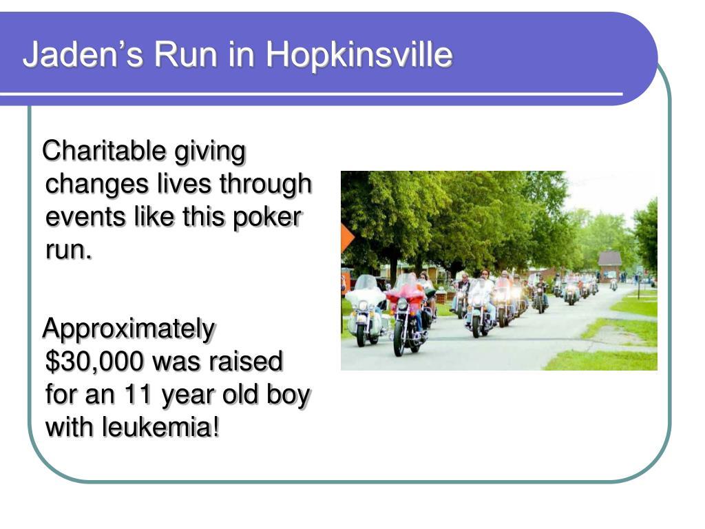 Jaden's Run in Hopkinsville