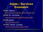 aska services examples