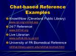 chat based reference examples