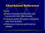 chat based reference